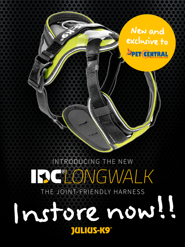 IDC Longwalk Harness is instore now at Pet Central