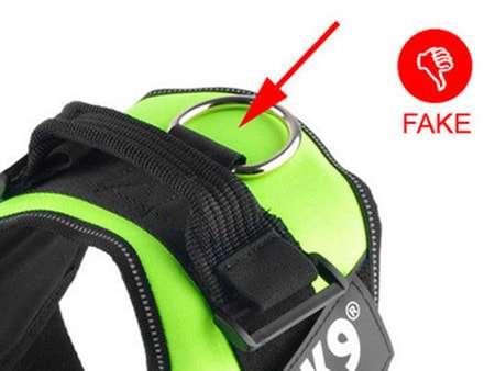 Fake harness with no logo or wrong logo