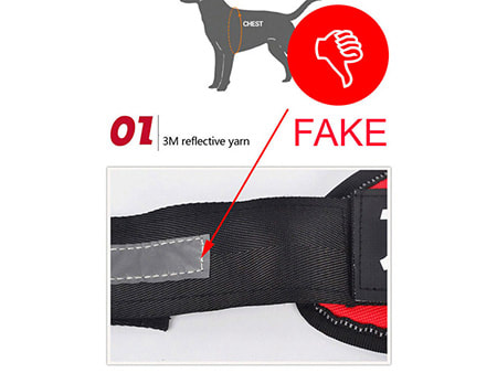 Cheap materials used on fake harnesses
