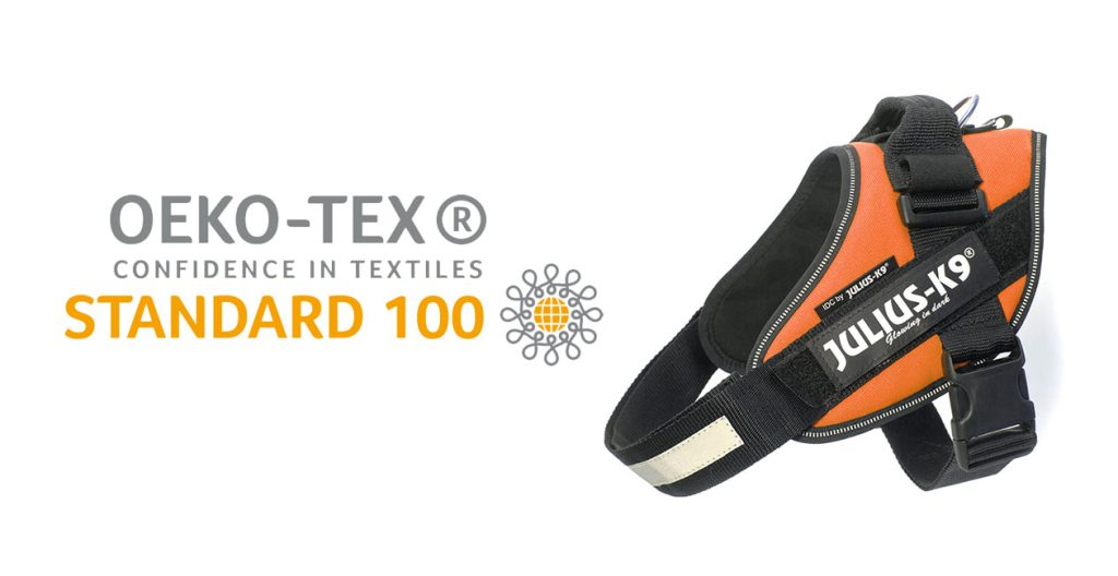 OEKO-TEX Confidence in Textiles Standard 100 Logo with Powerharness next to it