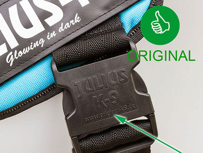 The real powerharness has the logo on the buckle