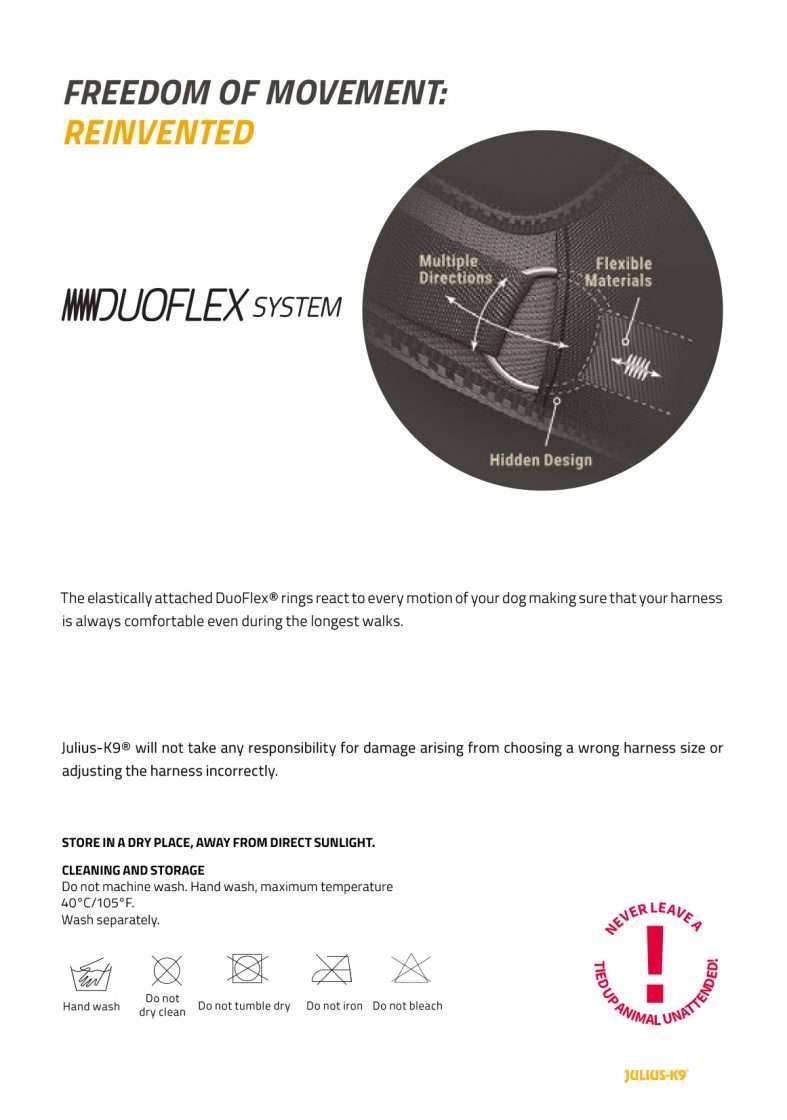 The Duoflex system of the IDC Longwalk Harness