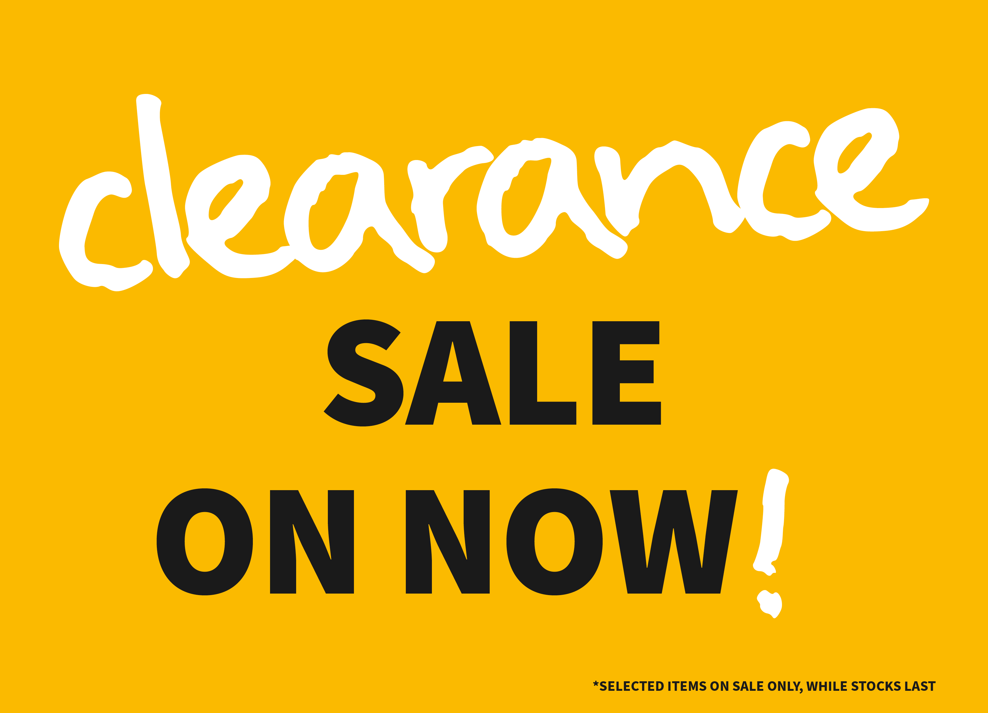 Category for Clearance Sale Products