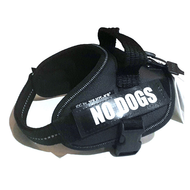 No Dogs Custom Label for Julius-K9 Accessories